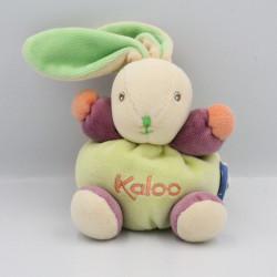 Mini Doudou lapin vert rose violet orange KALOO