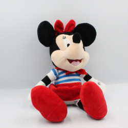 Doudou peluche musical Minnie bleu rouge rayé DISNEY IMC TOYS