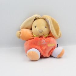 Doudou lapin boule patapouf rouge orange mauve 123 KALOO