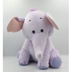Grand Doudou peluche Eléphant mauve Lumpy DISNEY FISHER PRICE