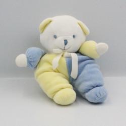 Doudou ours bleu jaune NOUKIE'S