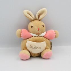 Mini doudou lapin beige rose KALOO