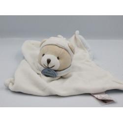 Doudou et compagnie plat ours blanc bleu