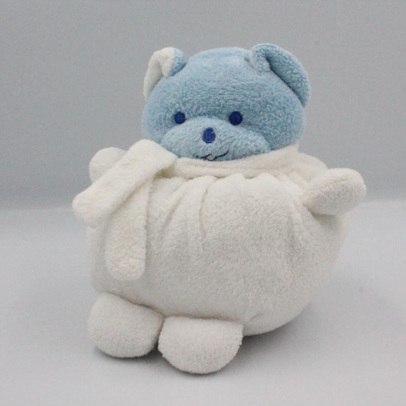 Doudou ours  boule blanc Musti de MUSTELA