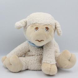 Doudou mouton blanc foulard bleu COOPER