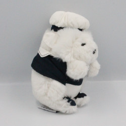 Doudou hérisson blanc noir marin TARTINE ET CHOCOLAT
