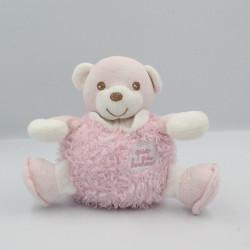 Doudou musical ours rose blanc Que du Bonheur
