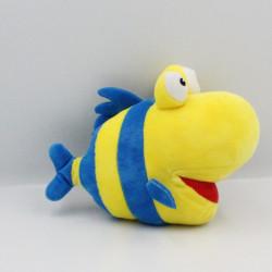 Doudou poisson jaune bleu INTERMARCHE