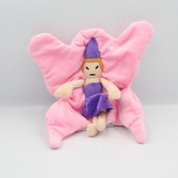 Doudou marionnette princesse fée rose violet MAISONS DU MONDE