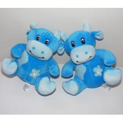 Doudou Hochet Vache Bleu Arthur et Lola BEBISOL