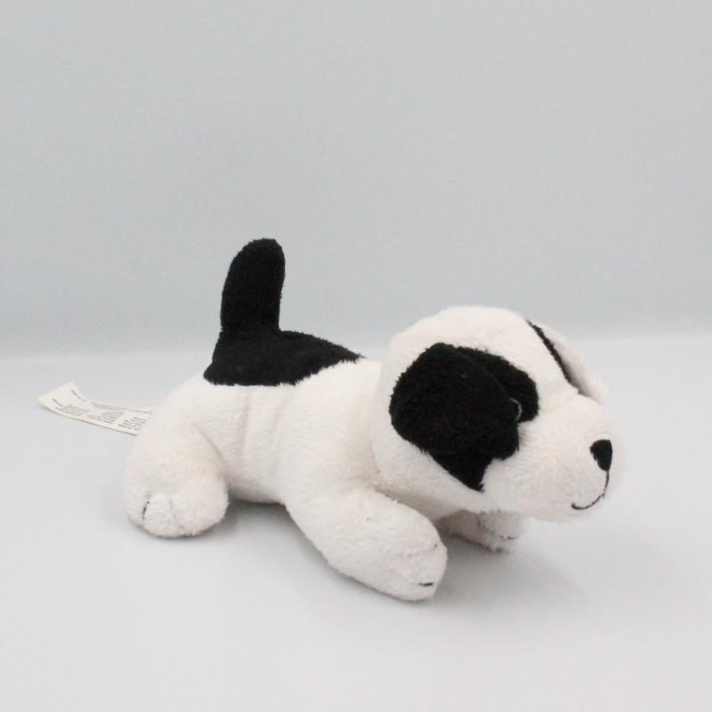 Doudou chien blanc noir KJL