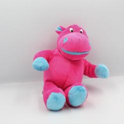Doudou hippopotame rose bleu GTI