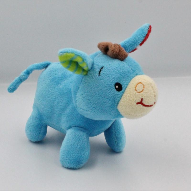 Doudou ane cheval bleu vert rouge MINIMI