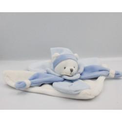Doudou et compagnie plat ours blanc bleu Collector J'aime mon doudou