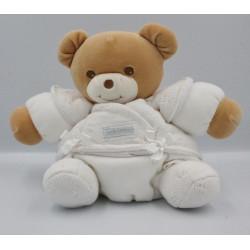 Doudou ours boule blanc laine TAKINOU
