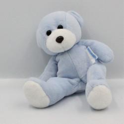 Doudou ours bleu blanc NOUNOURS