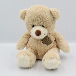 Doudou ours beige rapiécé...
