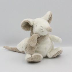 Doudou souris blanche beige Mimi DIMPEL