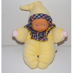 Doudou poupon bébé jaune COROLLE