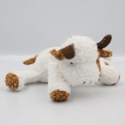 Doudou vache blanche beige marron COMPTINE