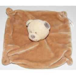 Doudou plat ours beige NICOTOY