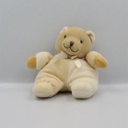 Doudou ours beige écru jaune NOUKIE'S
