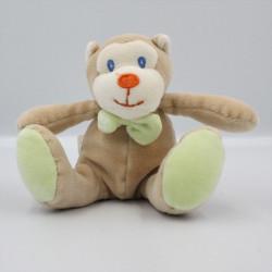 Doudou singe beige vert AUCHAN