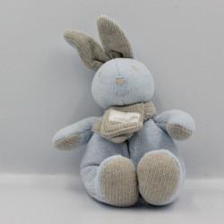 Doudou lapin bleu gris TARTINE ET CHOCOLAT