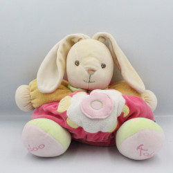 Doudou lapin patapouf rose orange vert blanc tortue KALOO