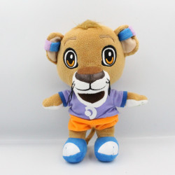 Peluche tigre beige violet bleu orange PHONAK BB TRADING