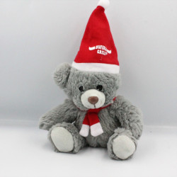 Doudou ours gris Noël BUFFALO GRILL