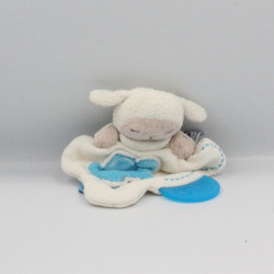 Doudou plat mouton blanc bleu nuage CHICCO