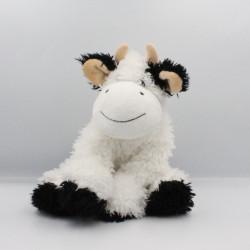 Doudou peluche vache blanche noir GIPSY