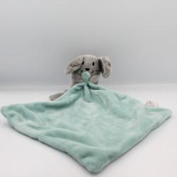 Doudou souris grise mouchoir vert ZEEMAN