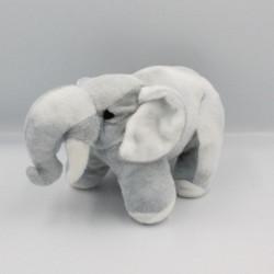 Doudou peluche éléphant gris AUCHAN
