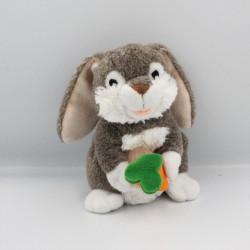 Doudou lapin marron blanc carotte DE CAR2
