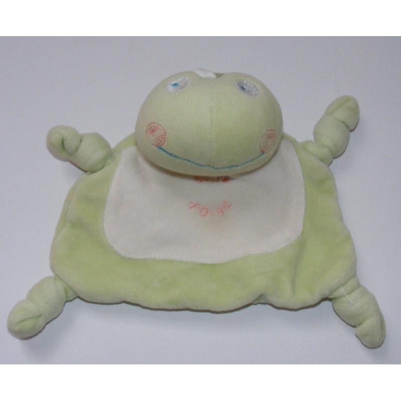 Doudou plat grenouille verte SUCRE D'ORGE