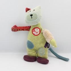 Doudou chat vert Les Jolis pas beaux MOULIN ROTY
