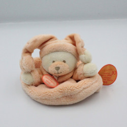 Doudou et compagnie plat rond ours orange Douceur Macaron