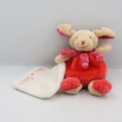 Doudou et compagnie chien beige rose mouchoir Cueillette