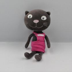 Doudou Chat noir rose Minette Petit DPAM