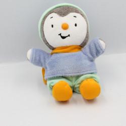 Doudou Tchoupi bleu vert orange bonnet JEMINI
