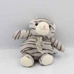 Doudou chat tigré gris HISTOIRE D'OURS