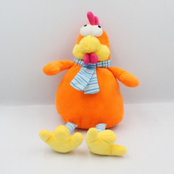 Doudou poule orange FIZZY