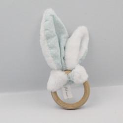 Doudou hochet oreilles de lapin Fil moi l'aiguille