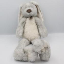 Doudou peluche lapin gris blanc HISTOIRE D'OURS