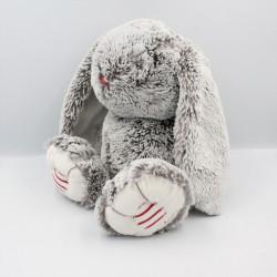 Doudou lapin marron gris ROUGE KALOO