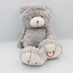 Doudou ours gris ROUGE KALOO
