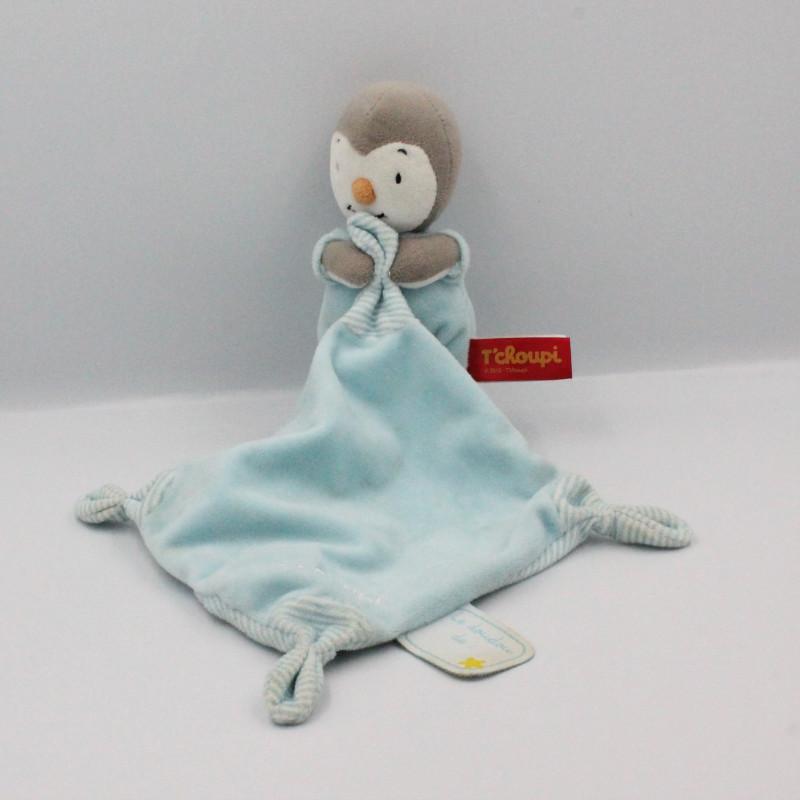 Doudou Tchoupi bleu ciel avec mouchoir NICOTOY