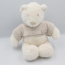 Doudou ours blanc Basile et Lola MOULIN ROTY